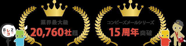 コンビーズメールシリーズ誕生15周年突破!のべ20,760社にお申込みいただきました!